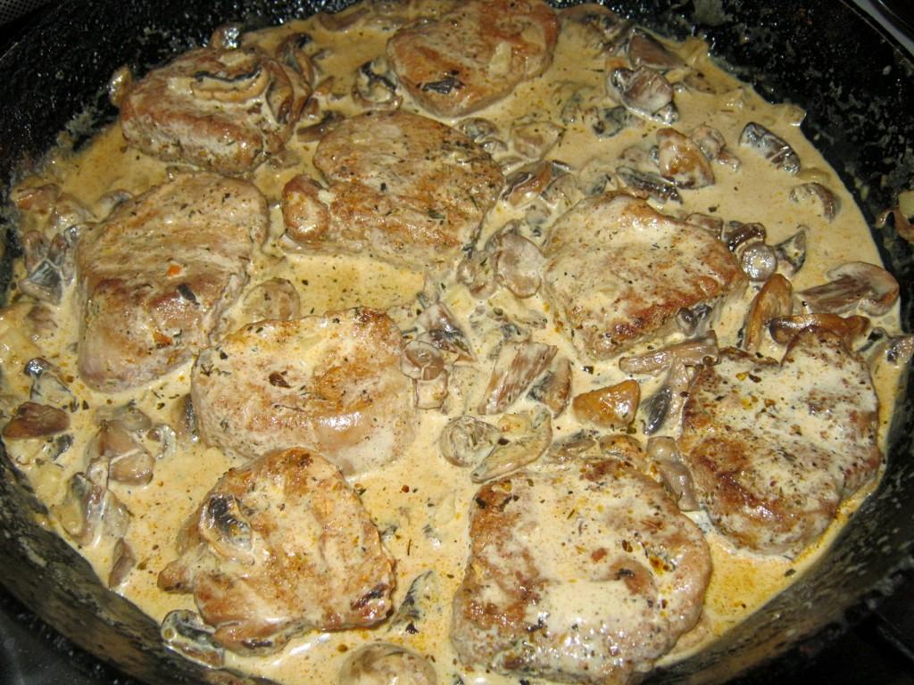 Polędwiczki wieprzowe w sosie gorgonzola
