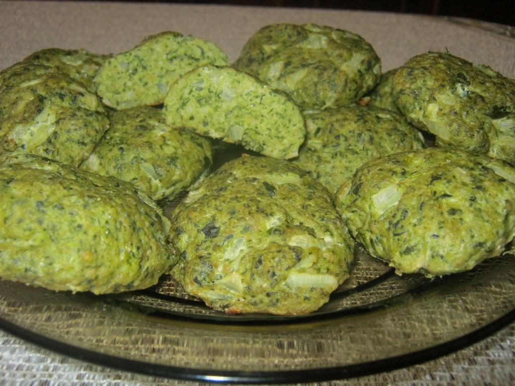 Zielone kotlety z piekarnika