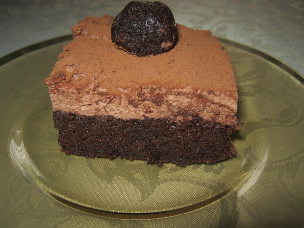 Ciasto bardzo czekoladowe z musem4