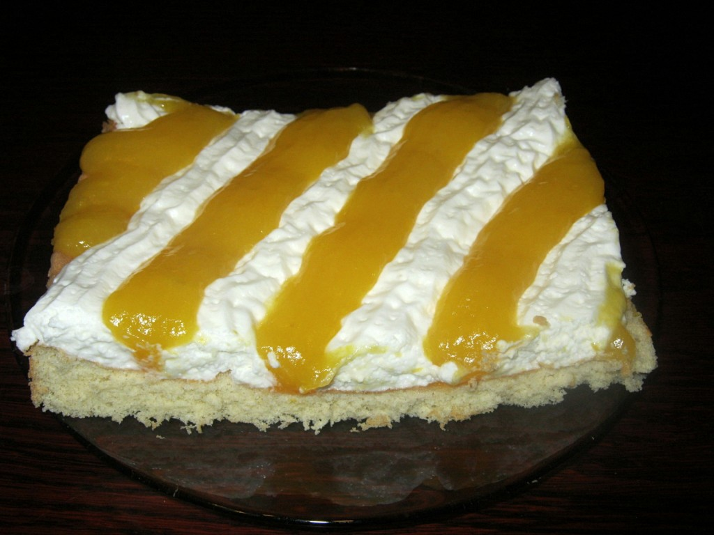 Ciasto serowo-brzoskwiniowe6