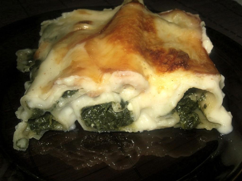 Cannelloni ze szpinakiem w sosie beszamelowym6