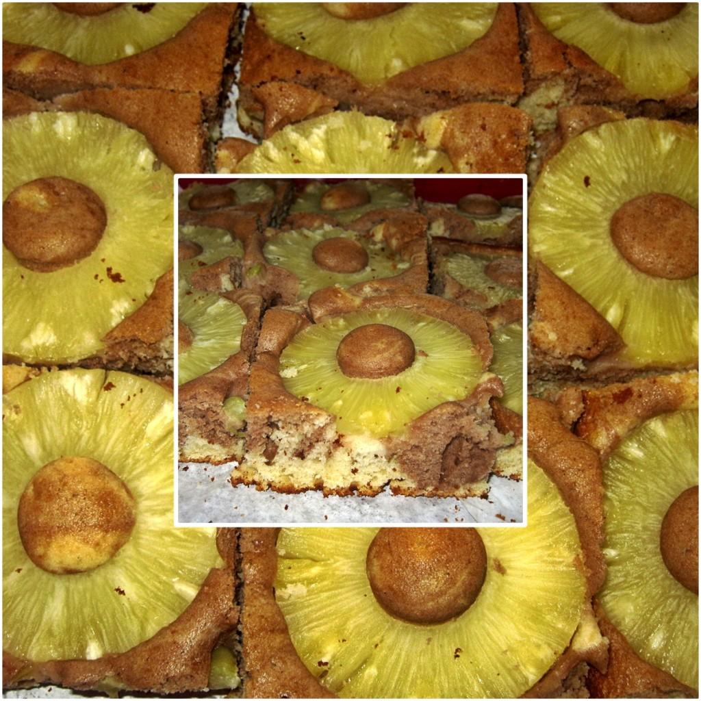 Ciasto marmurkowe z ananasem