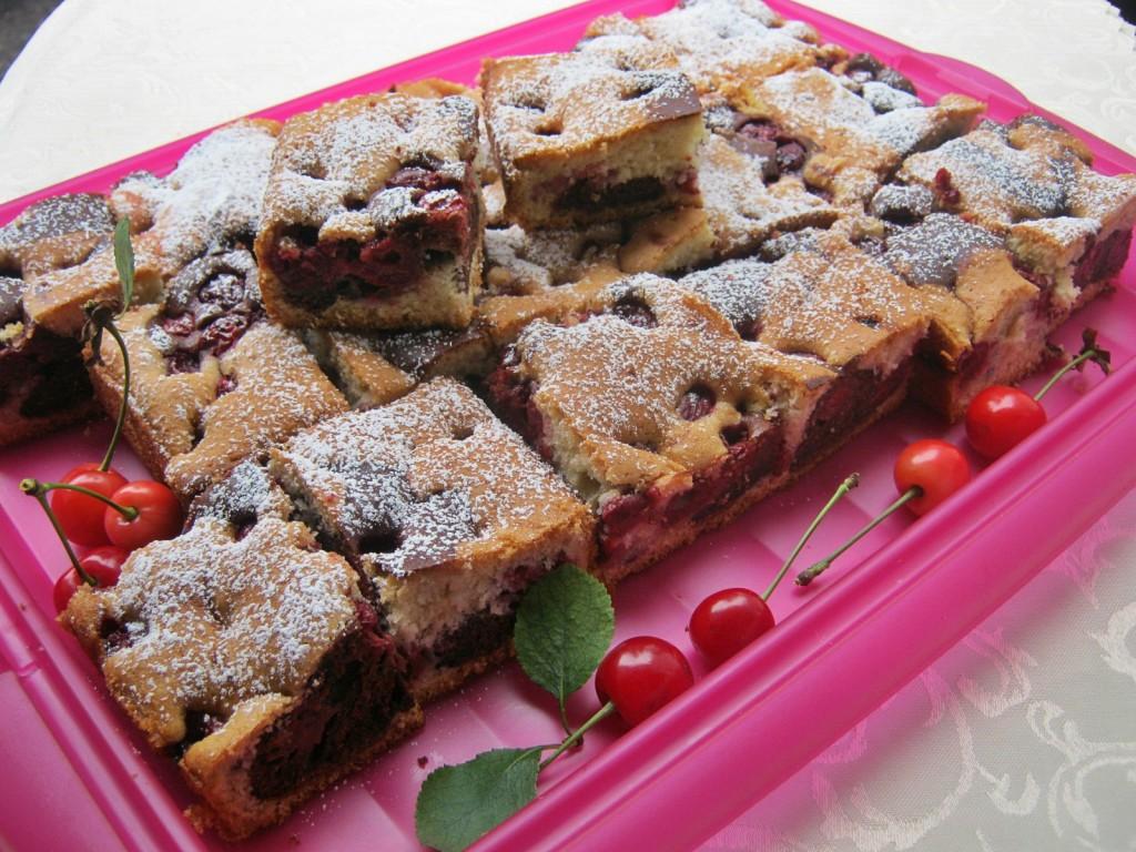 Łaciate ciasto z wiśniami10