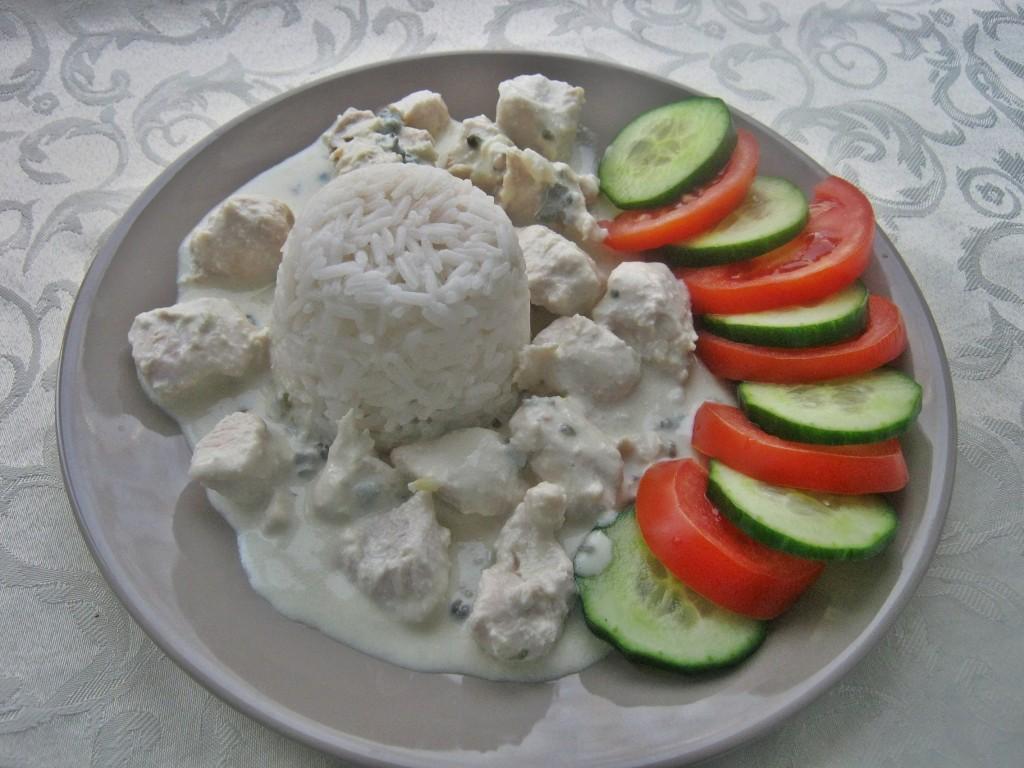 Potrawka z kurczaka z serem pleśniowym