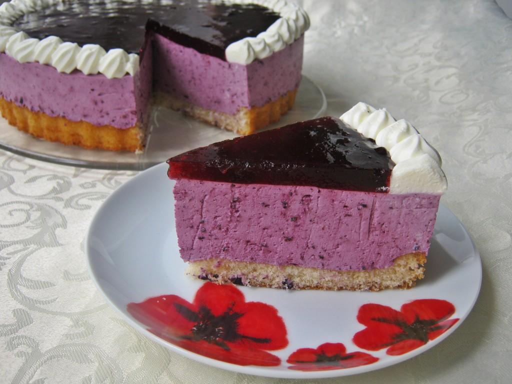 Tort serowo jagodowy bez pieczenia