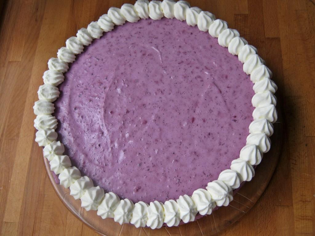Tort serowo jagodowy bez pieczenia26